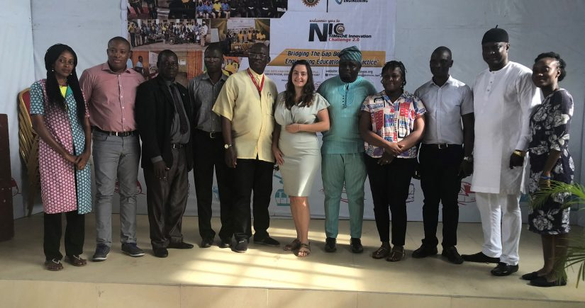 Elizabeth with the Nigerian Institute of Mechanical Engineers